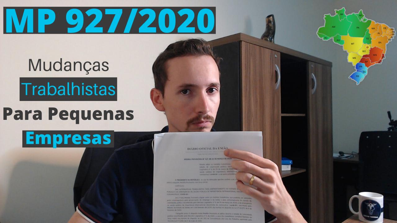 mp 927/2020 mudanças trabalhistas